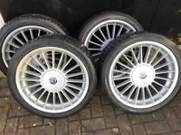 """BMW Alpina 18"""" wheels and tyres"""