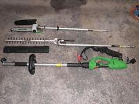 Florabest trimmer & chainsaw set