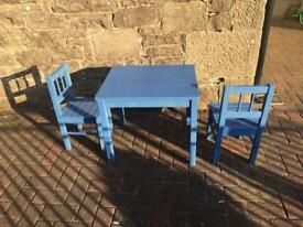 Toddlers table and chairs - IKEA