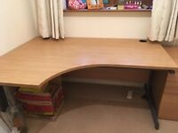 Office desk and drawer cabinet, excellent condition