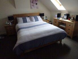 Light oak king size bed