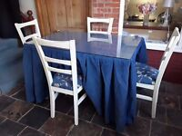 Quality table and 4 chairs .