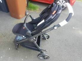 GB gold Beli air 4 pushchair stroller travel system and car seat