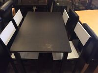 Brand New Solid Rubber Wood Dinning Table Set Of 4 Chairs-Same Day Express Delivery-Sale Now On