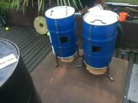 Steel drums/ burning bins