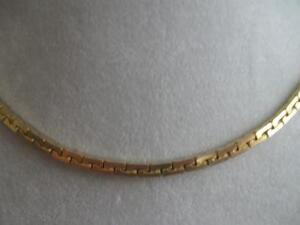 BRILLIANT GOLDTONE 15-in NECK-HUGGER BOXY-LINK CHAIN NECKLACE