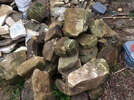 Decorative granite rockery stones