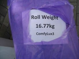 NEW 2 Rolls of Cpmfy3 12mm Underlay for Carpets