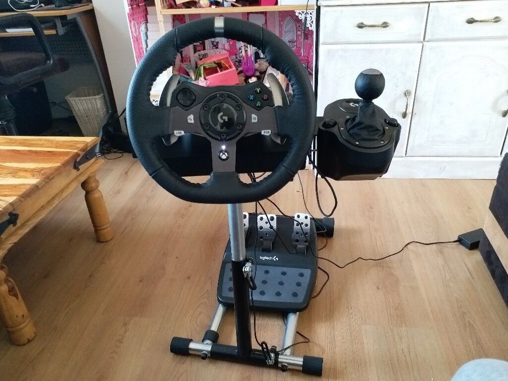013c47783cc LOGITECH Driving Force G920 Xbox One & PC Racing Wheel/Pedals/Shifter -  Bundle with Wheel Stand Pro