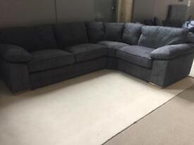 R/H Jumbo Cord Corner Sofa
