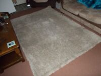 Large Real wool (Biscuit) Shaggy Rug (Cost £160)