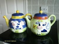 Farmyard design teapots
