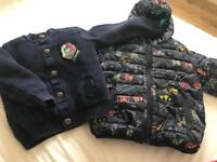 Two next ,m&s boys jackets 1 1/2,2 year