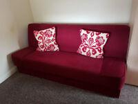 Dark Red Sofa