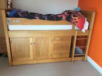 Oak Childs Cabin Bed - excellent Condition.