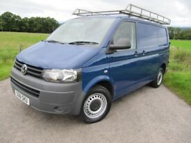 VW Transporter T32 140 BHP 2011 ~ Bulkhead ~ TOWBAR ~ Roofrack ~ LONG MOT ~ BLUE. REDUCED TO £8,250