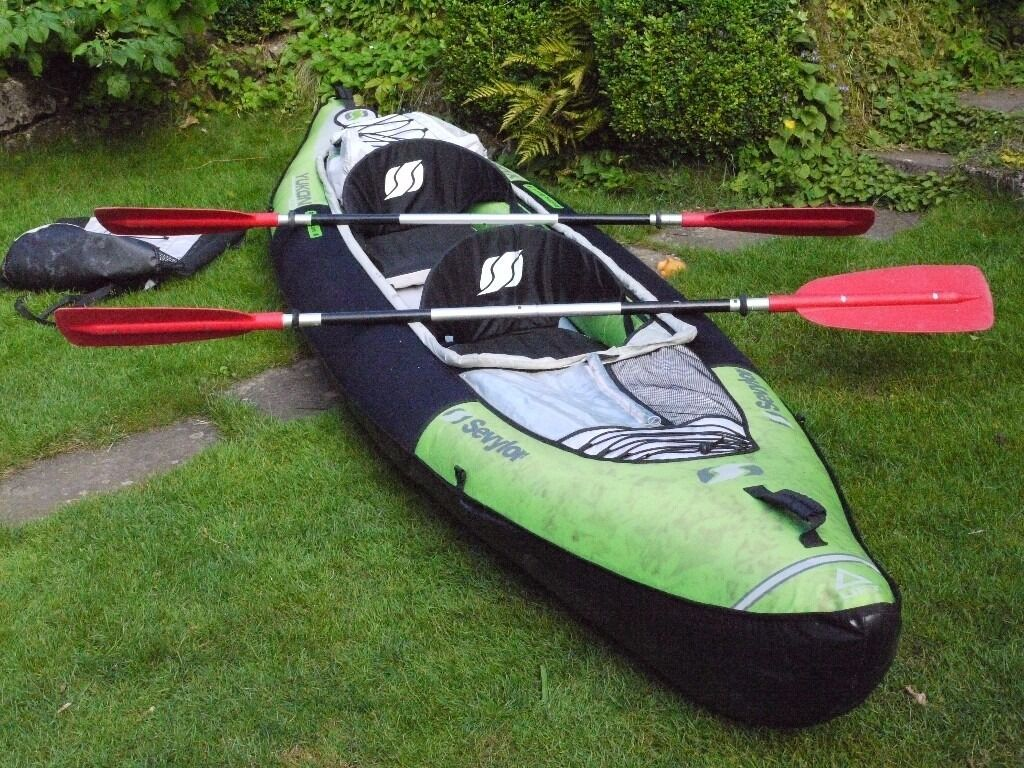 Sevylor Yukon Kcc380 2 Man Inflatable Kayak Canoe With