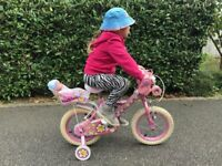 "For sale girls pink bike 2-5 years 12"" / 14"" inch from Halfords"