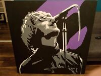LIAM GALLAGHER CANVAS (NOT A PRINT)
