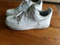 Size 8 nike air force trainers