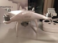 Phantom 4 4K Drone with 2 Batteries + Extras - Very Little Use - Boxed as New