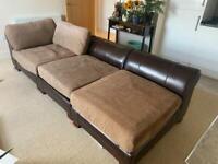 Corner Sofa, 3 Piece Quality Leather, Very Comfortable, L@@K