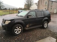 Blk Nissan Pathfinder 4x4, top spec, clean family car, 7 seater