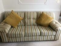 3 seater sofa, 2 seater sofa, chair and footstool