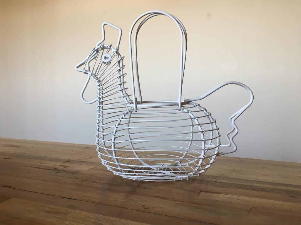 Chicken Shaped Wire Egg Basket In Buckingham