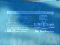 12 foot diameter large round Super Tramp Trampoline - Fun Bouncer Model 2072 Used.