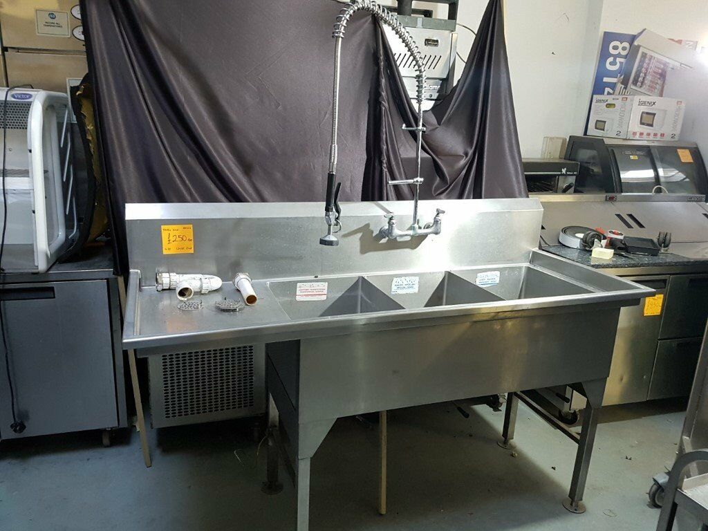 Commercial Sink Triple Basin 1 75m Ast212