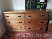 For sale. An Antique Oak Sideboard which benefits from having 6 deep drawers.