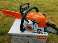 "STIHL MS 181 PETROL 16"" CHAINSAW NEW"