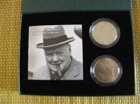 Royal Mint Winston Churchill 50th anniversary coin set