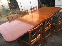Dining Table & 6 Chairs Reprodux 1990 free delivery locally!!!