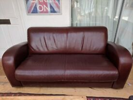 Leather Sofa and Armchair (matching)