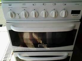 "GAS COOKER 50 cm White "" CANNON "" Glas Lid"