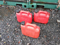 Fuel Petrol Red Container x3