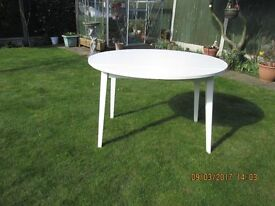 KITCHEN DINING TABLE PAINTED LAURA ASHLEY COUNTRY WHITE