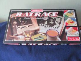 Waddingtons Ratrace Board Game Vintage 1984