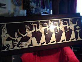 Wooden egyptian ritual picture.