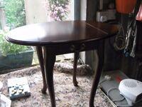 SMALL MAGHOANY LAMP TABLE