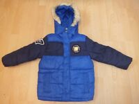 George Boys Winter Jacket with a hood 3-4 Years Exc Condition