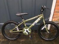 18 inch Apollo Kid's Bike Khaki Green VGC