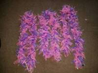 3 x pink and purple feather boas