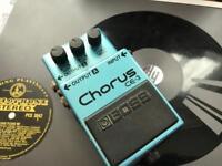 Boss CE-3 chorus pedal and Korg tuner