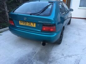 Toyota 1.3gs really good condition MOT until September.