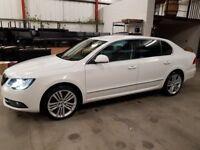 Skoda Superb Elegance 2.0 TDI, 170ps, DSG, 5 Door Hatchback, Candy White, Excellent condition
