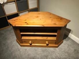 Antique Pine Corner TV Unit - open to offers