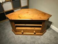 Antique Pine Corner TV Unit - open to offers